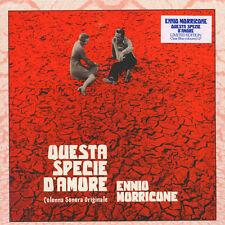 LP Ennio Morricone Clear Blue Colored Questa Specie D'amore Colonna Sonora OST