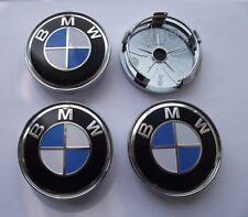 BMW Hub Caps Alloy Wheel Centre Cap Set of 4. E90 E60 E61 E34 X3 X5 BLUE 60mm