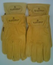 4 Pairs PLAINSMAN Goatskin Leather Wholesale Work Gloves MEDIUM New Free Ship
