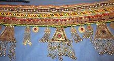 "Belt Medallion Coins Bells Afghan Kuchi Tribal Alpaca Silver Belly Dancing 56"""