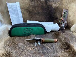 Randall Model 27 Mini Copper Trailblazer Knife Micarta Handles Leather Sheath +