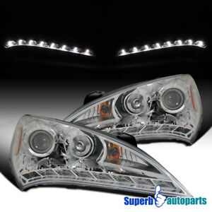 For 2010-2012 Hyundai Genesis Coupe 2 Dr Projector Headlights 10-12 Head Lamps