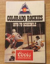 Vintage 1978-79 Colorado Rockies Hockey Pocket Schedule Original Coors Beer