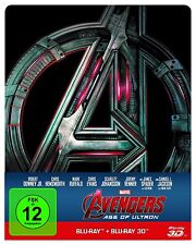 Avengers Age of Ultron 3D Blu-Ray Steelbook mit Prägung Limited Edition NEU