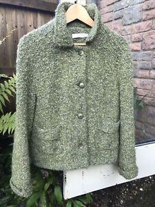 Avoca Green Wool Irish Tweed Jacket 10-12 Goes Well With Toast