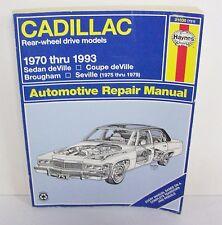 Vintage 1970 - 1993 Haynes CADILLAC Car Automotive Repair Service Manual Book