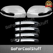 For 2010 Nissan Maxima 4Drs Handle+Side Mirror W/Signal Cut Abs Chrome Covers