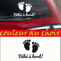 sticker autocollant bébé à bord decal enfant pied