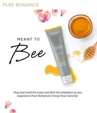 Pure Romance Serenity Honey Rose Aromatherapy Massage Lotion + BRAND NEW