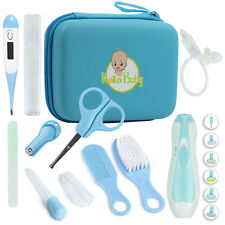 Baby Health and Safety Grooming Kit with Electric Nail Trimmer - Blue (17 Pcs)