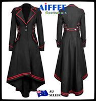 Medieval Women Steampunk Victorian Gothic Coat Jacket Tailcoat Halloween Costume