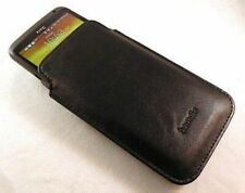 For Samsung Galaxy S3, S4, S5 mini Hamdis Black PU Leather Slip Pouch Case Cover