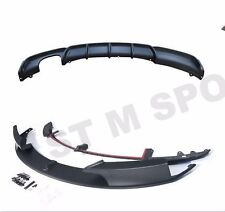 SPOILER EXTENSION SPLITTER TWIN REAR BUMPER  DIFFUSER LIP KIT FOR F30 F31 ABS PP