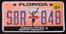 "FLORIDA "" SUPPORT SPECIAL OLYMPICS - SPORT "" FL Specialty Graphic  License Plate"