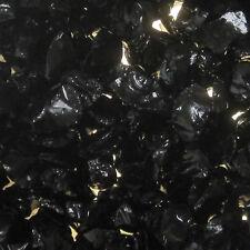 Black Fire Pit Glass, Fireglass, Fireplace Glass, Large