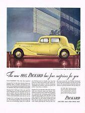 1934 BIG Vintage Packard Super Eight Club Sedan Car Automobile Art Print Ad
