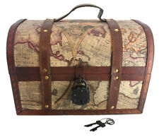 """13"""" Map Chest Treasure Chest by Well Pack Box"""