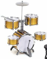 6Pcs Combo Drum Set Boys Girls Big Band Jazz Kids Drum Set Kit Play Music KIDS