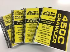 JOHN DEERE 450C CRAWLER DOZER LOADER SERVICE OPERATORS PARTS MANUAL 1,000 PAGES