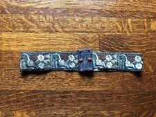 1920's Art Nouveau Fabric Belt with Original Asian Motif & Flowers & Symbols