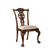 Beau Maitland Smith 4031 268 Carved Mahogany Chippendale Side Chair Cabriole Leg  New