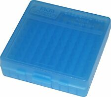 MTM PLASTIC AMMO BOXES (2) BLUE 100 Round 9mm / 380 - FREE SHIPPING