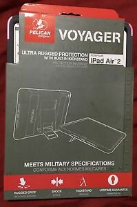 Pelican Voyager Rugged Protection Case w/ Kickstand for iPad Air 2- Pink/Gray
