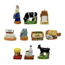 Fèves de collection en porcelaine _  Il était une fois le lait _ Série complète