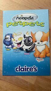 Neopets - Petpets (Noil, Angelpuss, Babaa, Doglefox) Rare Item Code Card
