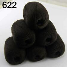 Hot 6balls x 50g Pure Color 100% Cashmere DIY Hand Knitting Needle Wool Yarn 22
