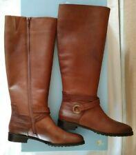 ebf5bb04627 Antonio Melani Women s Riding BOOTS Sz 8 Vedan True Brandy Knee High Leather
