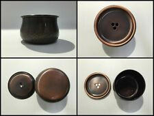 Japanese Copper Tea Ceremony Bowl Cup Kensui Vintage Signed X023