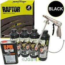 UPOL BLACK RAPTOR Liner Paint Ultra Tough Urethane Coating + Spray Gun - RLB/S4
