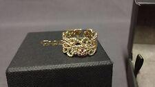 Welsh Clogau 9ct Yellow & Rose Gold Kensington Ring Size M RRP £950
