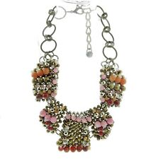 Pam Hiran Anthropologie Beaded Statement Necklace