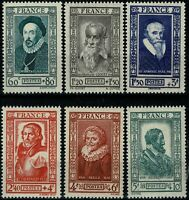 FRANCE 1943   YT n° 587 à 592 neufs ★★ luxe / MNH (C)
