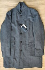Faconnable men's Travel overcoat Loro Piana Wool Rain System, packable RRP £1200