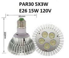 LED PAR30 SHORT RECESSED LIGHT BULB E26 E27 BASE 5 X 3W 15W 110V 120V WARM WHITE