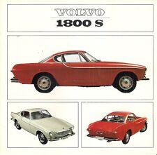 Volvo 1800 S Coupe 1965-66 Dutch Market Foldout Sales Brochure P1800