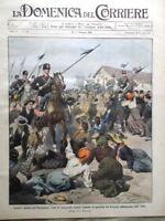 La Domenica del Corriere 10 Maggio 1908 Sciopero Parma Turr Re Manuel Portogallo