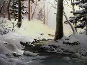 Dalhart Windberg Slumbrous Interlude Winter Snow Water Otter Landscape Country