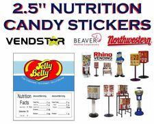 2.5 x 2.5 Bulk Vending Label Candy Machine Sticker JELLY BELLY JELLY BEANS