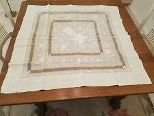 """37 1/2"""" Square Turn-of the-Century Antique Chinese Tablecloth"""