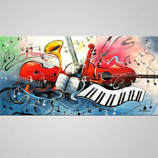 Modern Large Hand-painted Art Oil Painting Wall Decor Canvas Music(No Frame)