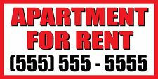 2'x4' APARTMENT FOR RENT CUSTOM NUMBER Sign Vinyl Banner house condo home studio