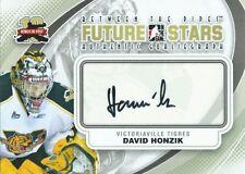 (HCW) 2011-12 ITG Between the Pipes Future Stars DAVID HONZIK Autograph 00489