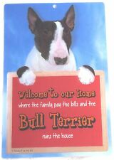 English Bull Terrier Brindle 3d Welcome Sign Great Christmas Stocking Filler