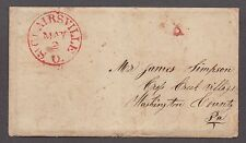 **US Stampless Cover, 5/2/1851 CDS St. Clairsville, OH, Letter to James Simpson
