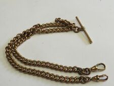 Antique gold plated albert pocket watch chain
