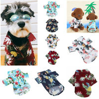 Pet Dog Hawaiian Shirt Beach Clothes Vest Floral Printed For Small Large Dog